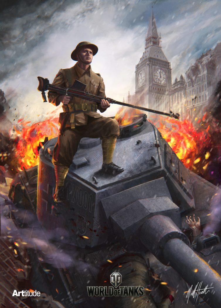 WoTC 4th Anniversary MattHealth ARTtitude Artwork - World of Tanks Konsole feiert seinen vierten Geburtstag mit über 14 Millionen Spielern!